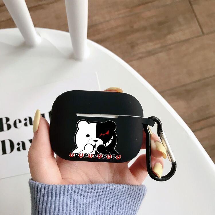 Мультфильм Аниме Danganronpa силиконовый чехол Airpods Pro Чехол беспроводной Bluetooth airpods pro Чехол чехол для наушников Чехол чехол