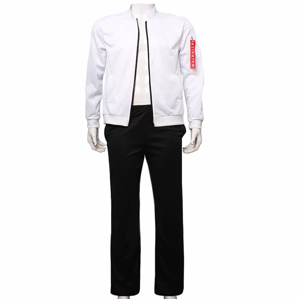 Anime Tokyo Revengers Hanemiya Kazutora Cosplay Costume White Jacket Pants Valhalla Uniform Baseball Coat Halloween Clothes