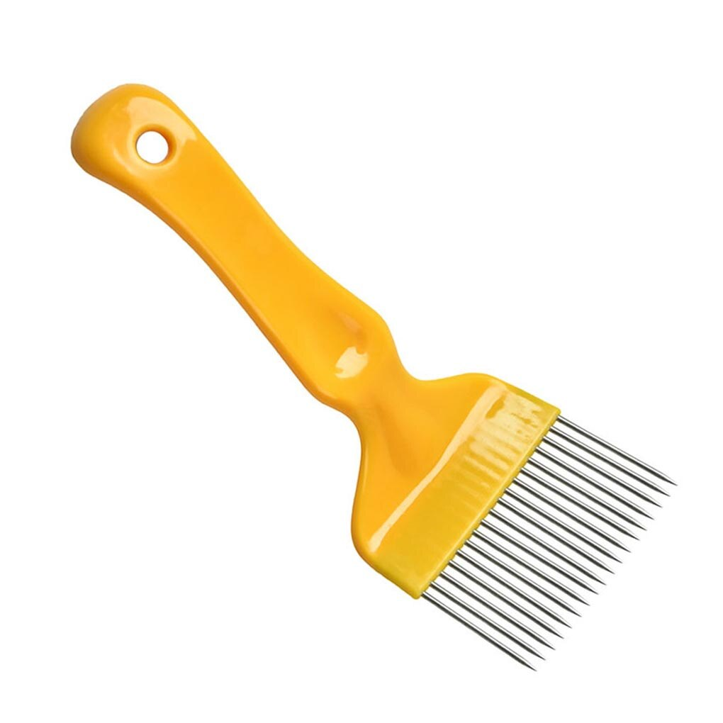 Horquillas de acero inoxidable para apicultura, panal, destapado, 18 dientes, colmena, herramienta de mano