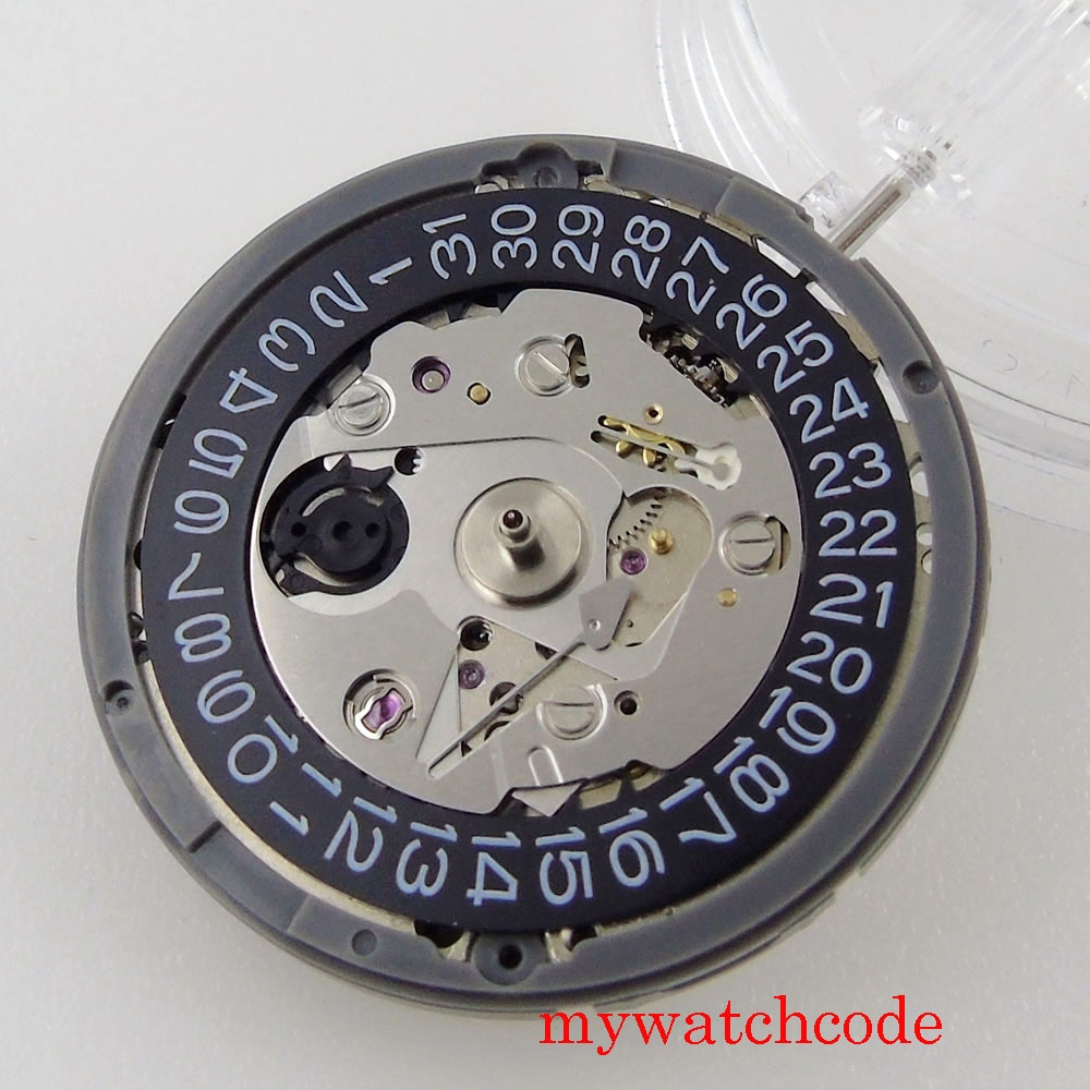 High Quality 24 Jewels Japan NH35A NH36A Automatic Movement Black Date Wheel 21600bph Watch Parts For Wrist Watch At 3 O'Clock enlarge