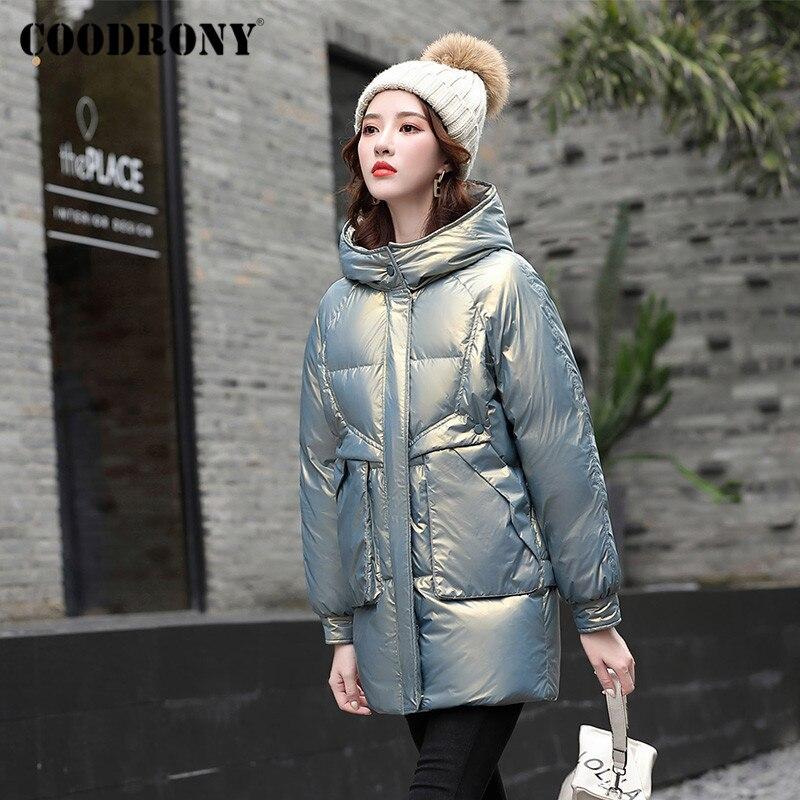 COODRONY брендовые уличные яркие однотонные женские зимние пуховики 2020 ветрозащитные теплые женские длинные пуховики W9032
