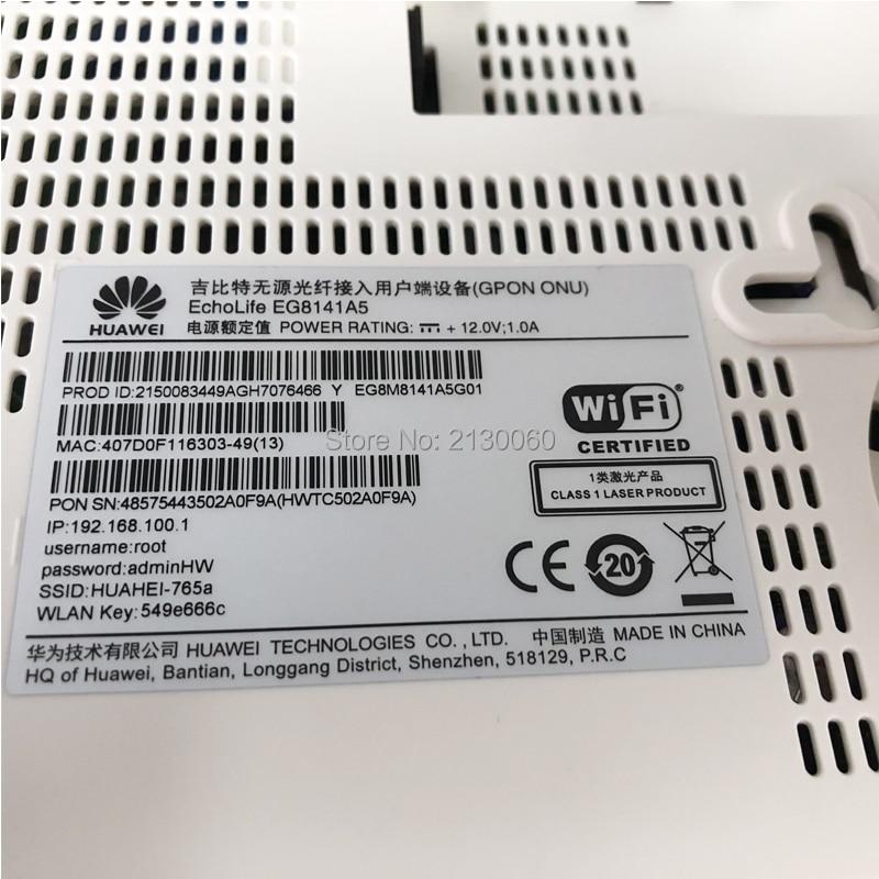 SC UPC Wholesale Price 5PCS Huawei 5Dbi EG8141A5 gpon ont onu 1GE+3FE+WiFi modem, 100% New English Firmware