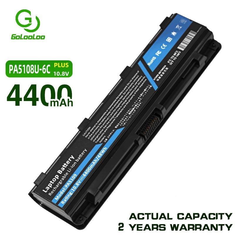 Golooloo 4400mAh PA5109 PA5108U-1BRS بطارية كمبيوتر محمول لتوشيبا PA5109U-1BRS C40 C45 C50 C50D C50T C55DT C70 C70S C75 C7