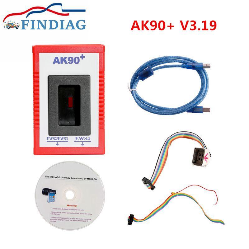 Lo mejor para BMW AK90 V3.19 programador de llaves de coche AK90 + para BMW CAS/EWS de 1995-2009 AK 90 llaves de identificación de todas CAS y EWS