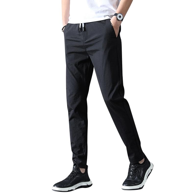 2020 nuevos pantalones de alta calidad para hombres vestidos acampanados casuales para...