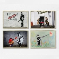 banksy graffiti canvas art prints painting pop decoration pictures love life wall art decorative freeship gifts %d0%ba%d0%b0%d1%80%d1%82%d0%b8%d0%bd%d1%8b %d0%bd%d0%b0 %d1%81%d1%82%d0%b5%d0%bd%d1%83