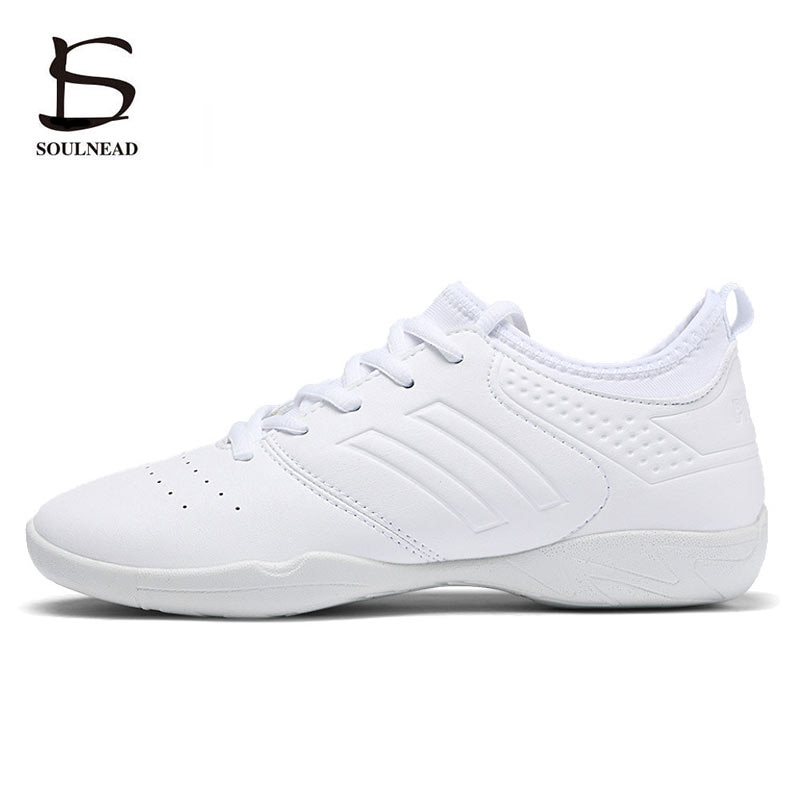 New Women Aerobics Competitive Shoes Soft Bottom Girls Modern/Jazz/Hip-hop Dance Shoes White Woman's
