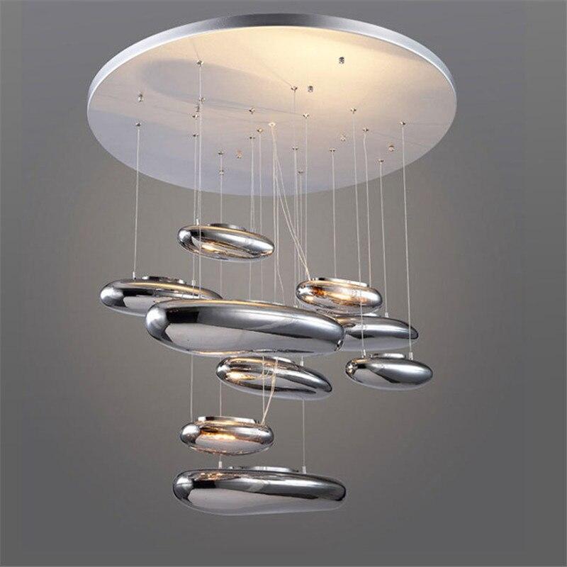 مصباح السقف المعدني الحديث من Artemide Mercury ، مصباح السقف المعلق LED ، مصباح غرفة المعيشة الإبداعي PA0681