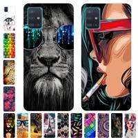 Untuk Samsung A51 Case Ponsel Cover Lembut Silicone Case Belakang untuk Samsung Galaxy A51 Kasus A71 M11 M21 A515F Yang 51 71 Cover Bumper TPU
