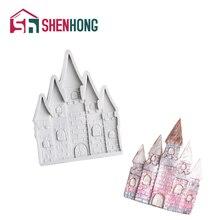 SHENHONG silikon fondan kalıp kale kilise düğün kek dekorasyon kalıp Sugarcraft çikolata Gumpaste dekorasyon araçları
