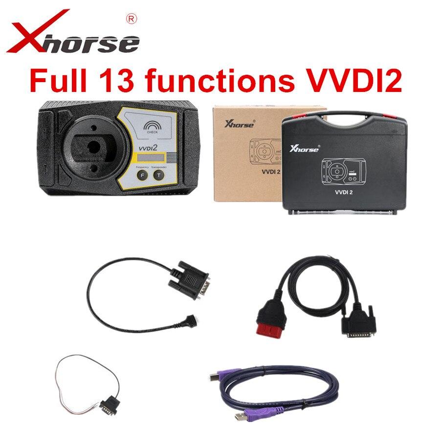 Original xhorse vvdi2 completa 13 funções versão v6.6.9 para V-W/audi/bmw/porsche/psa vvdi 2 comandante ferramenta de diagnóstico automático