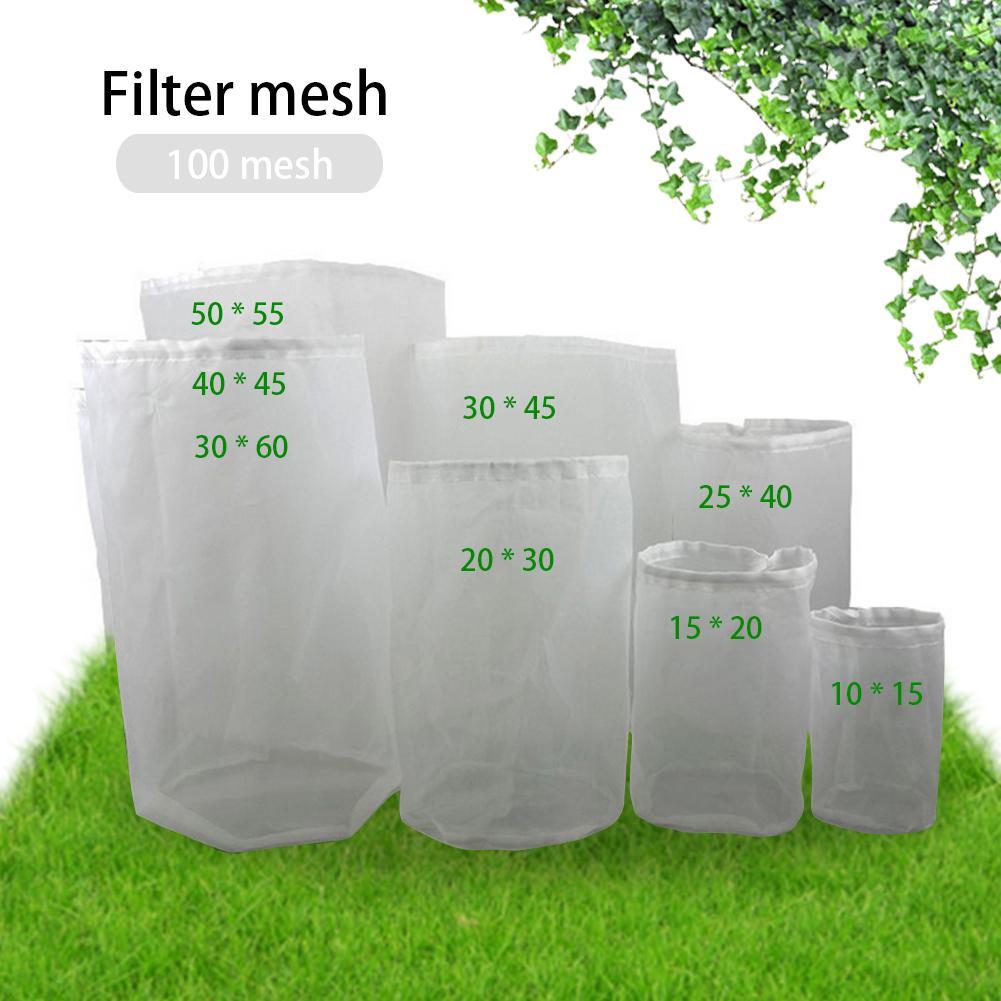 1 stücke 8 Größe Haushalt Bierbrauen Wein Filter Tasche Tee Obst Mutter Saft Milch Nylon Mesh Filter Tasche Netto filter Kann Wiederverwendet Kitc