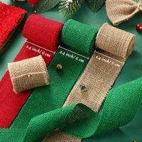 2meter colorful jute burlap hessian ribbon rolls colored burlap ribbon natural diy crafts hessian ribbon christmas gift wrapping