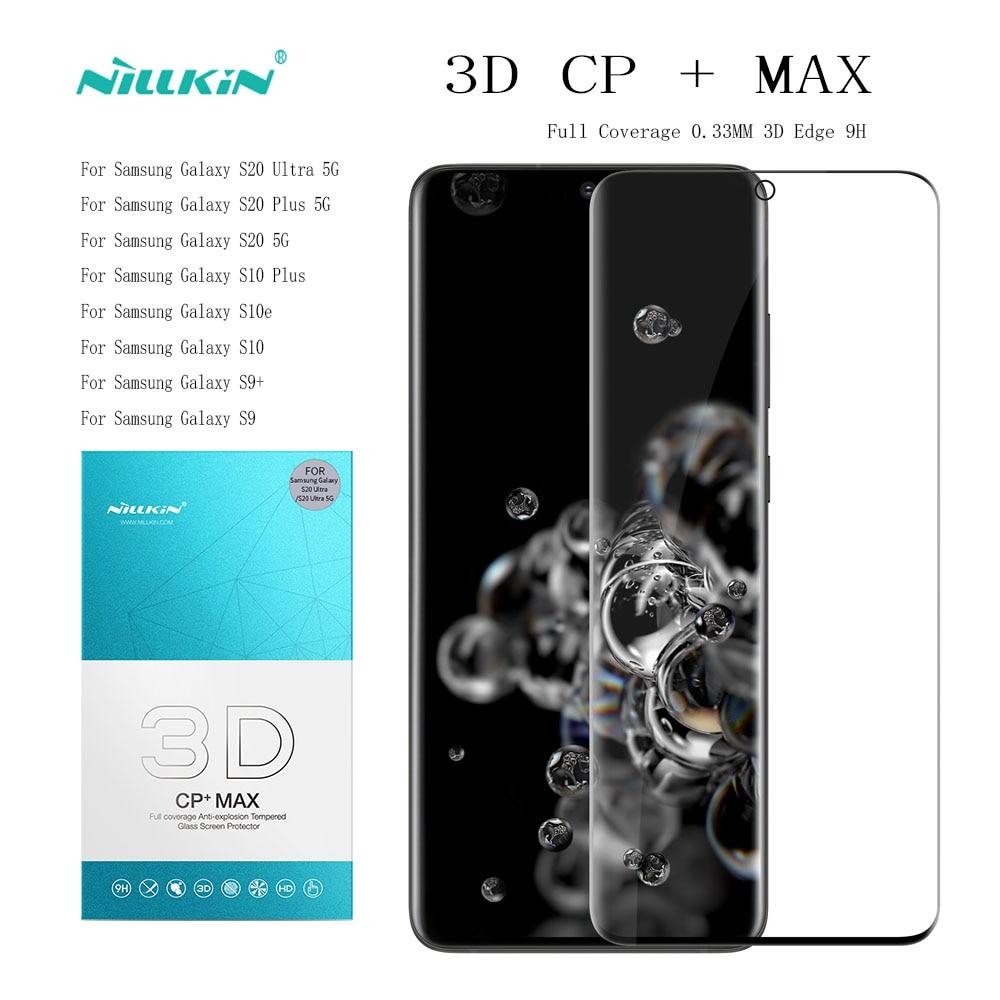 NILLKIN-Protector de pantalla de cristal templado para Samsung Galaxy S20, S20, Ultra, s10, s10e, s9 y S8, increíble cobertura completa 3D, CP + MAX, 9H