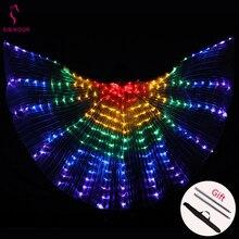 2020 femmes danse du ventre Isis ailes Led Isis ailes danse du ventre accessoire ailes Costume ailes de papillon adulte avec des bâtons sac
