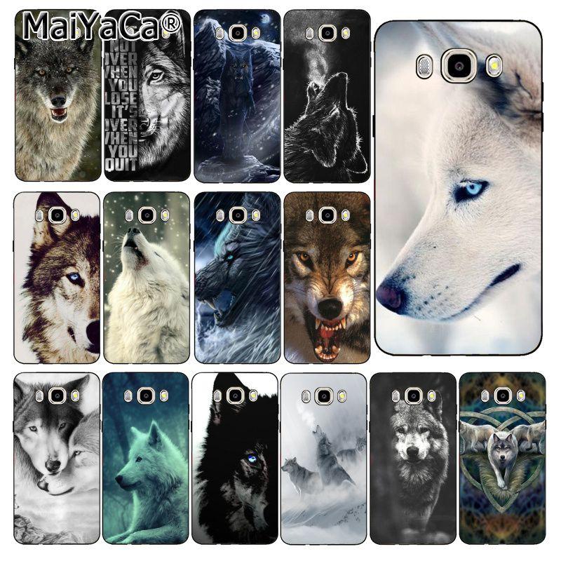 MaiYaCa angry Animal wolf Face Phone Case Back Cover For Samsung Galaxy J7 J6 J8 J4 J4Plus J7 DUO J7NEO J2 J5 Prime