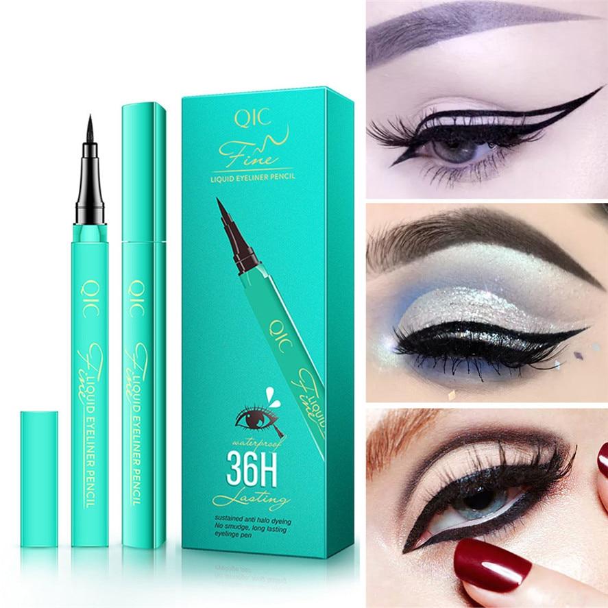 Lápis delineador líquido preto 36h, maquiagem duradoura à prova dágua ferramenta,