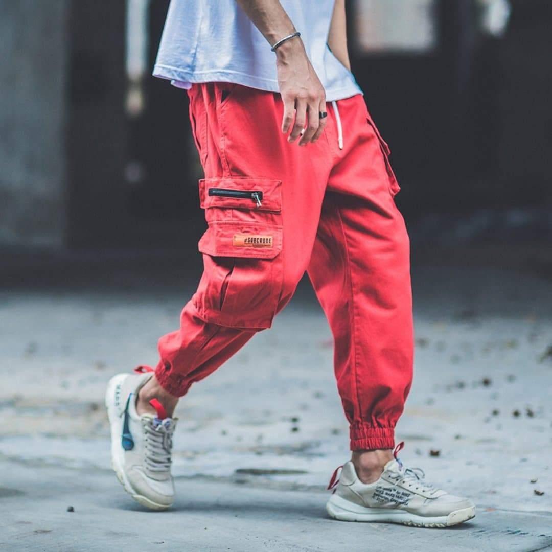 Man Camouflage Hip Hop Streetwear Cargo Pants Mens Sweatpants Casual High Street Harem Pants