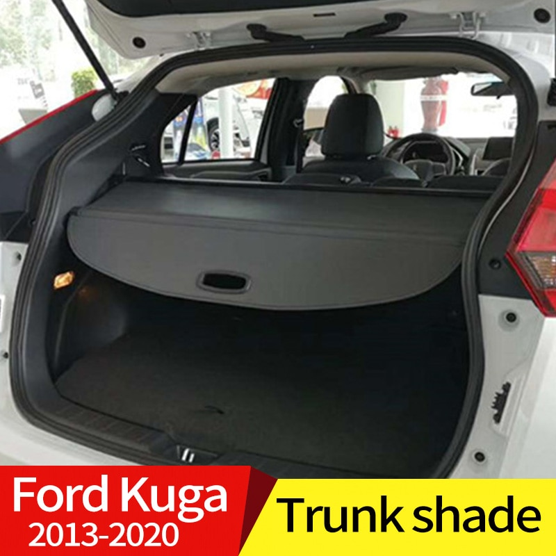 car rear trunk security shield cargo cover for toyota land cruiser prado 120 2003 2009 high qualit trunk shade security cover Cargo Cover Partition Curtain Screen Shade Trunk Security Shield Rear Auto Accessories Black For Ford Kuga Escape 2013-2020
