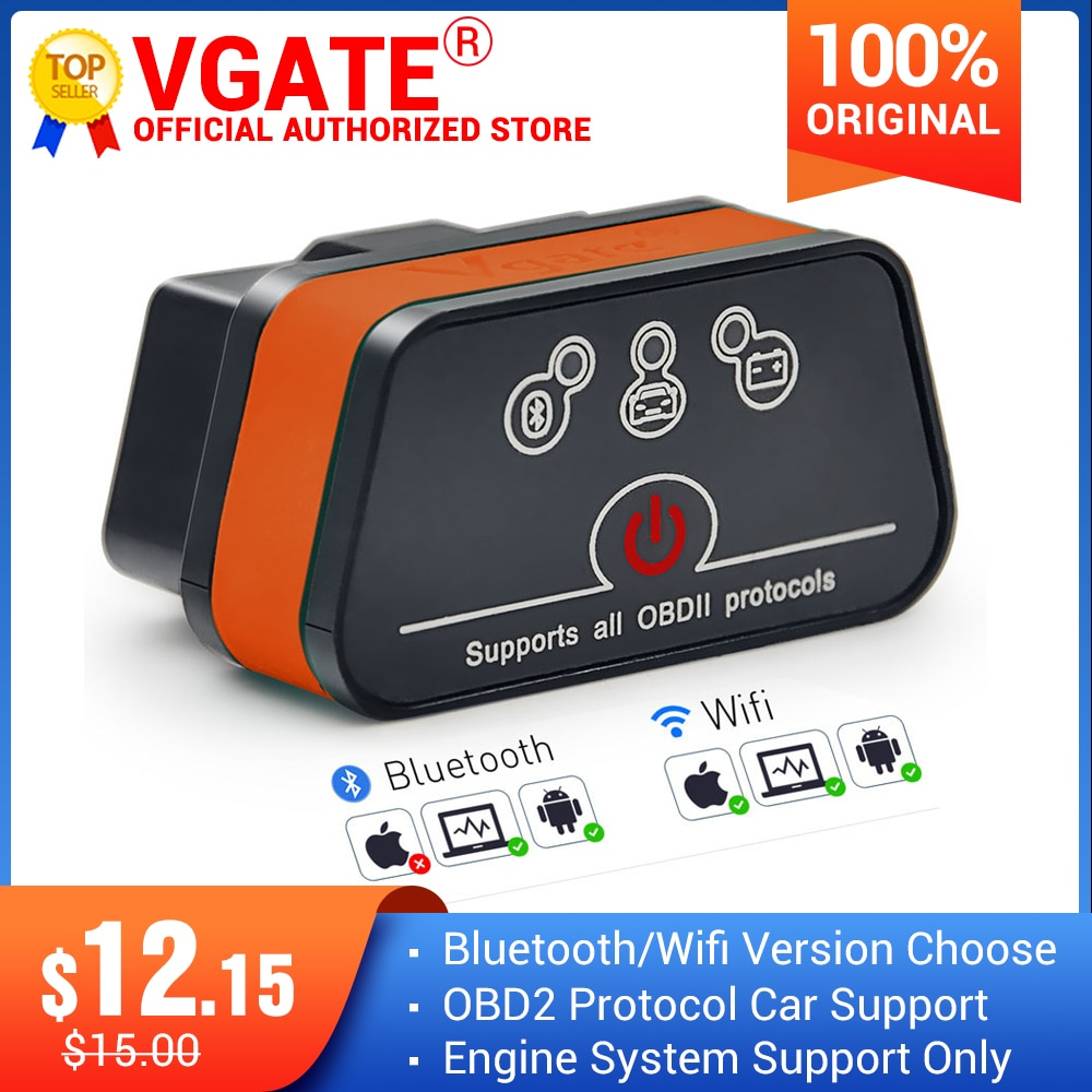 Vgate iCar2 ELM327 obd2 Bluetooth elm 327 V2.1 obd 2 wifi icar 2 Automotive diagnostic scanner for a