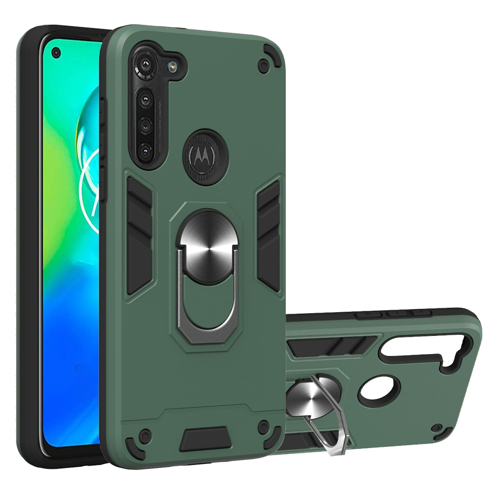 For Motorola Moto G8 Power Case Hard With Stand Ring magnet shockproof Armor protective back cover C