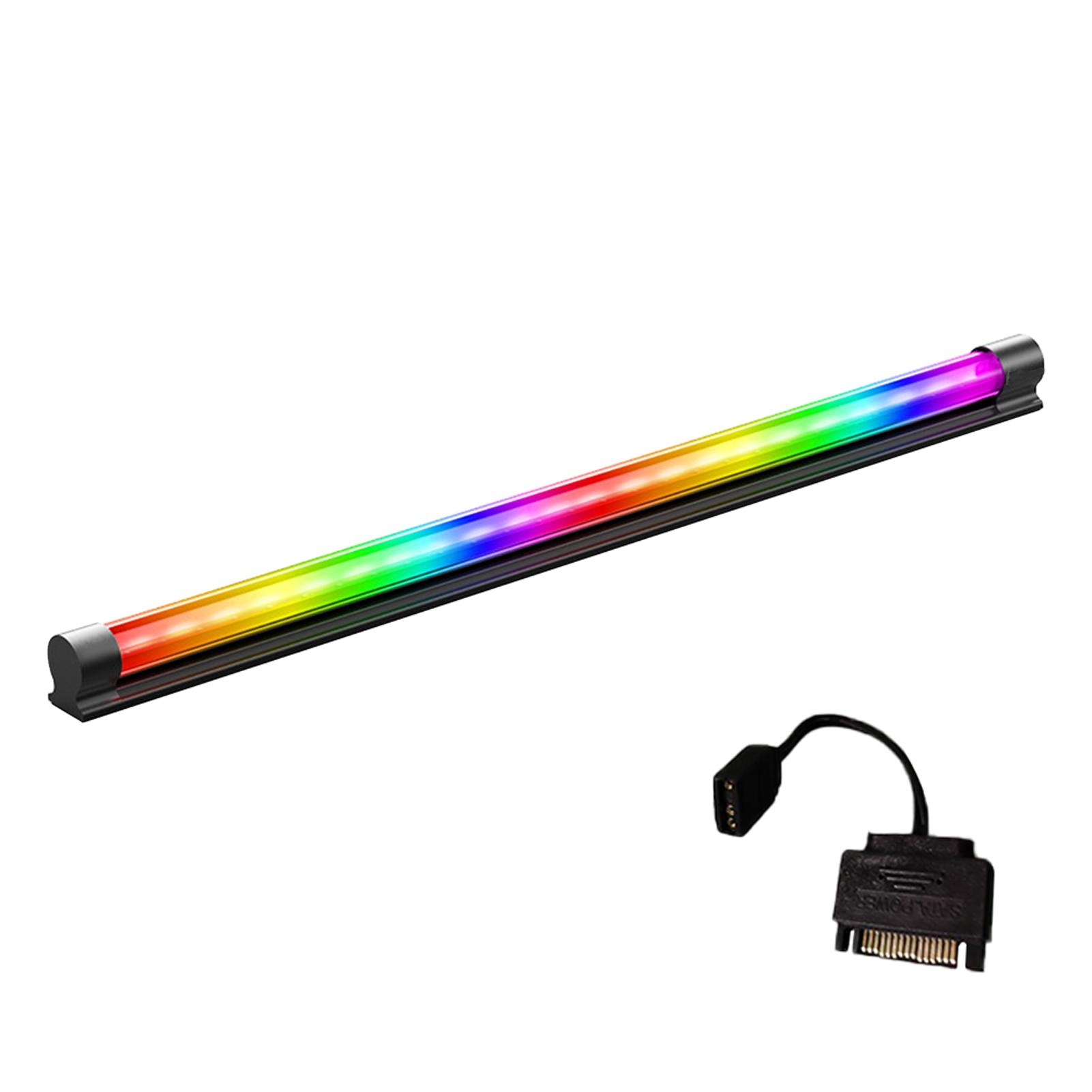 DIY بها بنفسك ل وحدة معالجة خارجية للحاسوب سهلة التركيب ليلة تلفزيون محمول سطح المكتب اكسسوارات مصباح ليد قطاع تحت خزانة المنزل ARGB الإضاءة