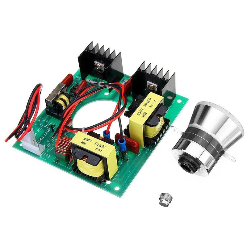 220V 50W Ultrasonic Generator Power Supply Module + 1Pc 40Khz Ultrasonic Transducers Vibrator