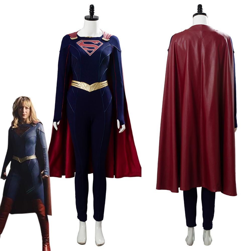 Danvers Cosplay Supergirl Kara Danvers disfraz para mujeres adultas traje capa cinturón Halloween carnaval disfraces