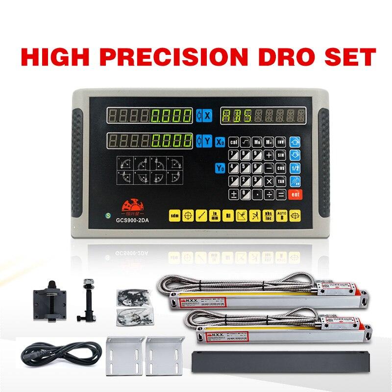Kit dro de 2 ejes hxx GCS900-2DA fresadora y taladradora con dro