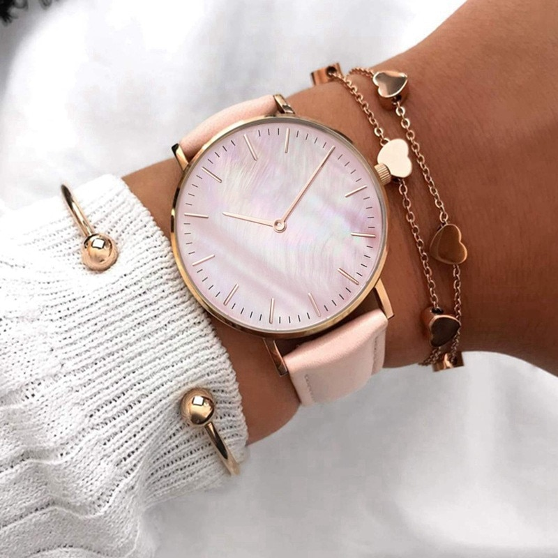 2020 Women Watches Top Brand Luxury Quartz Watch Leather Strap Fashion Wristwatch For Women Clock Ladies Hodinky Reloj Mujer 2020 women watches top brand luxury quartz watch leather strap fashion wristwatch for women clock ladies hodinky reloj mujer