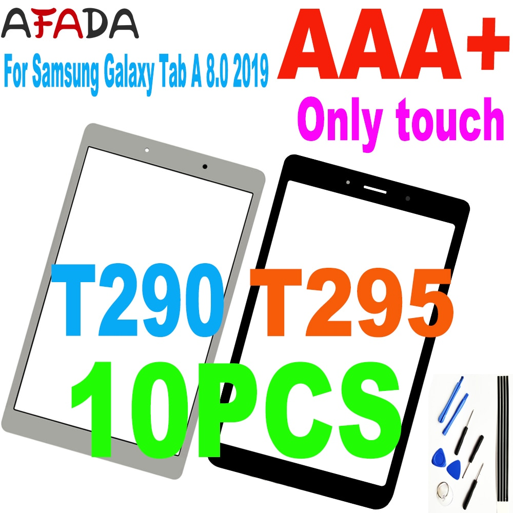 10PCS 8.0'' For Samsung Galaxy Tab A 8.0 2019 SM-T290 SM-T295 T290 T295 Touch Screen Digitizer Glass Sensor Replacement