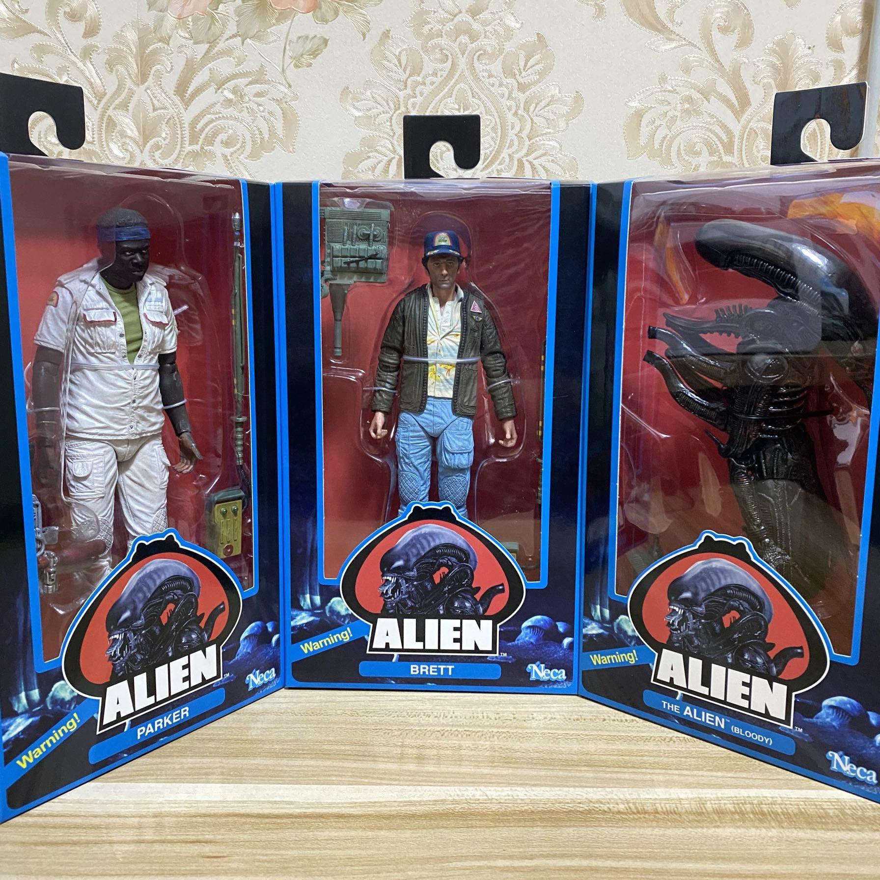 NECA Movie Predator VS Aliens Science Toys 40th Anniversary 3pcs The 2th Lineup Action figure Model