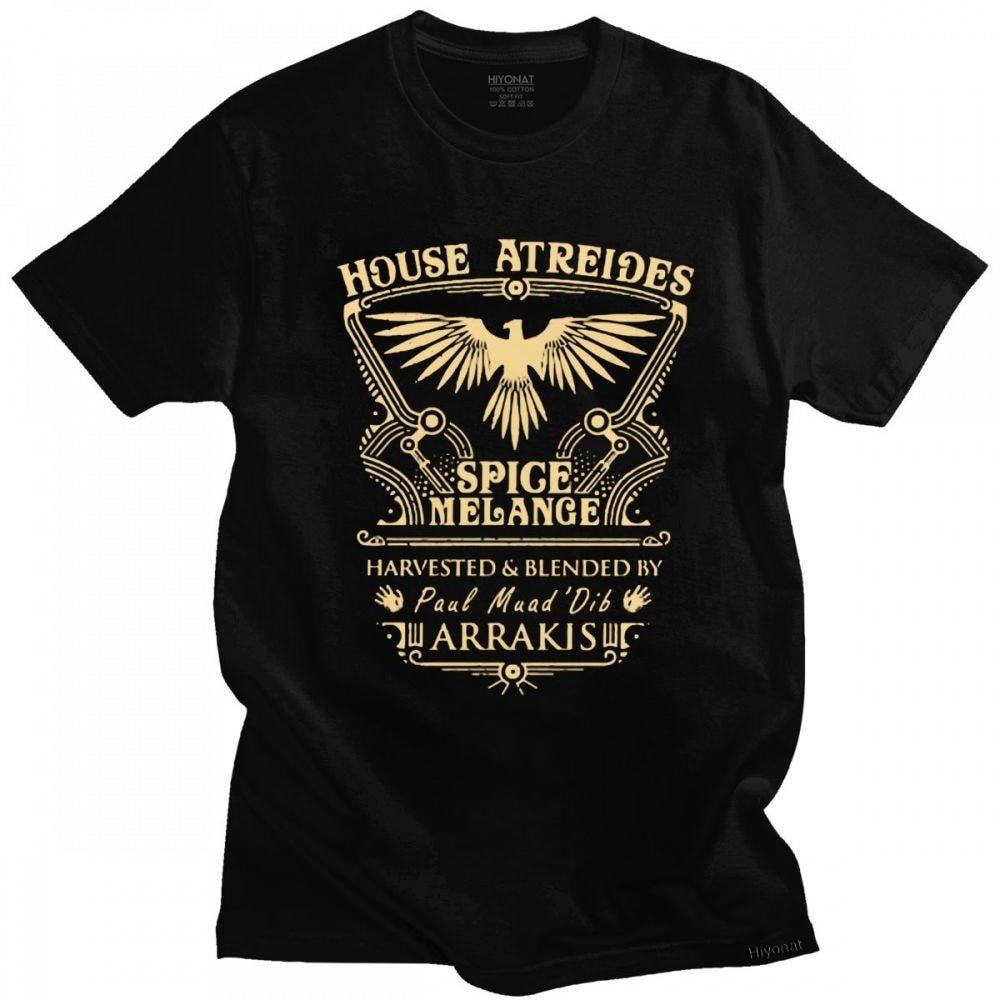Lustige Haus Atreides Dune Arrakis T Tops Männer Kurzarm Streetwear Science Fiction Film T Shirts Baumwolle T-shirt Waren