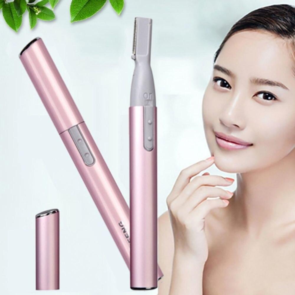 Electric Face Eyebrow Scissors Hair Trimmer Mini Portable Women Body Shaver Remover Blade Razor Epil