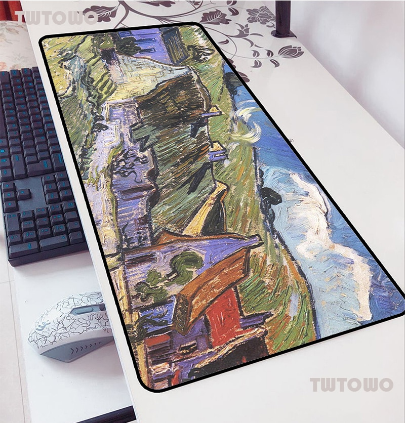 Van Gogh Mouse Pads 90x40cm Pad To Mouse Notbook Computer Mousepad World Map Gaming Mousepad Gamer T