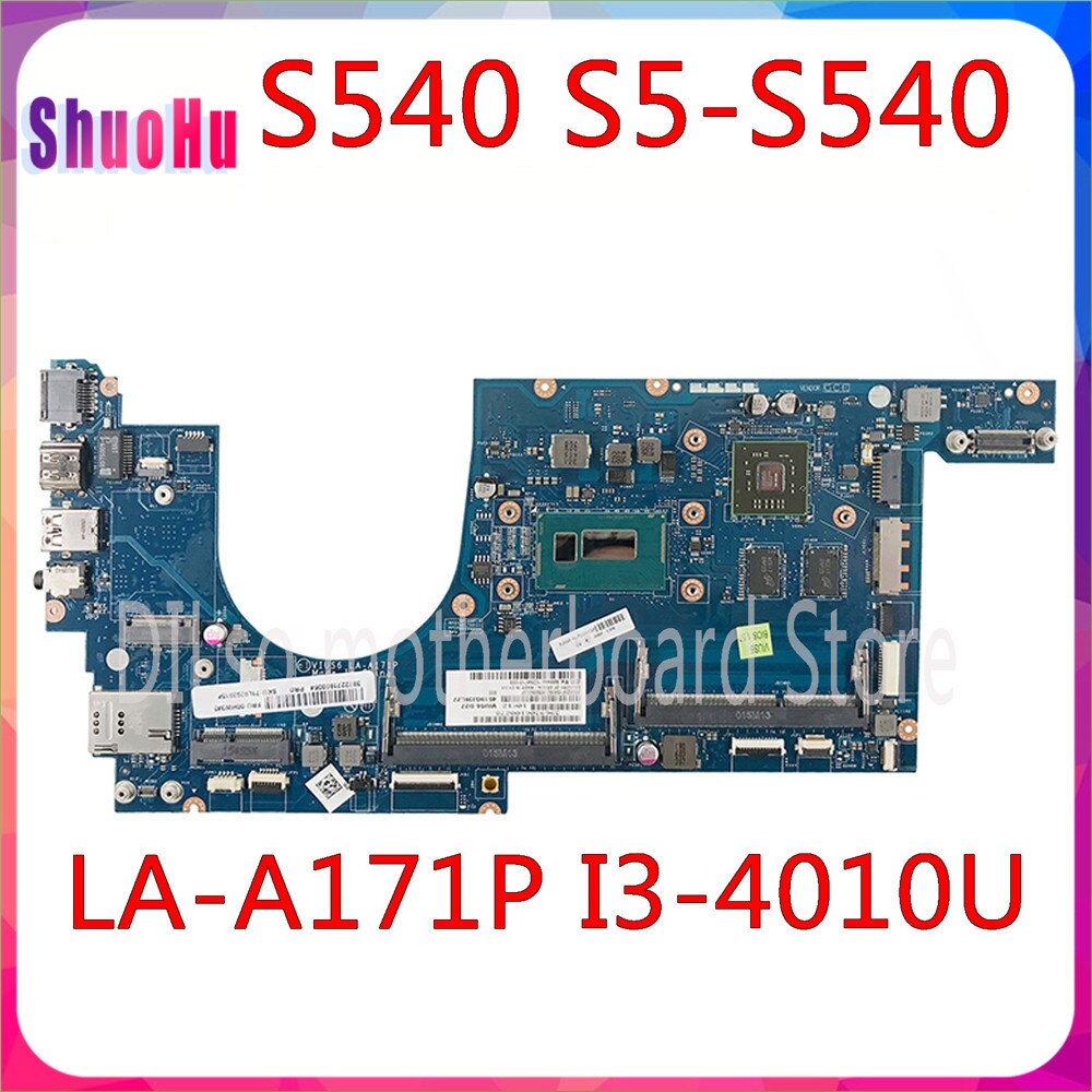 KEFU VIUS6 LA-A171P اللوحة لابتوب لينوفو ثينك باد S540 S5-S540 اللوحة I3-4010U CPU 100% ٪ اختبارها DDR3 HM76 2 فتحات