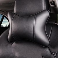 toyoura car neck pillows both side pu leather single headrest universal easy install filled fiber universal