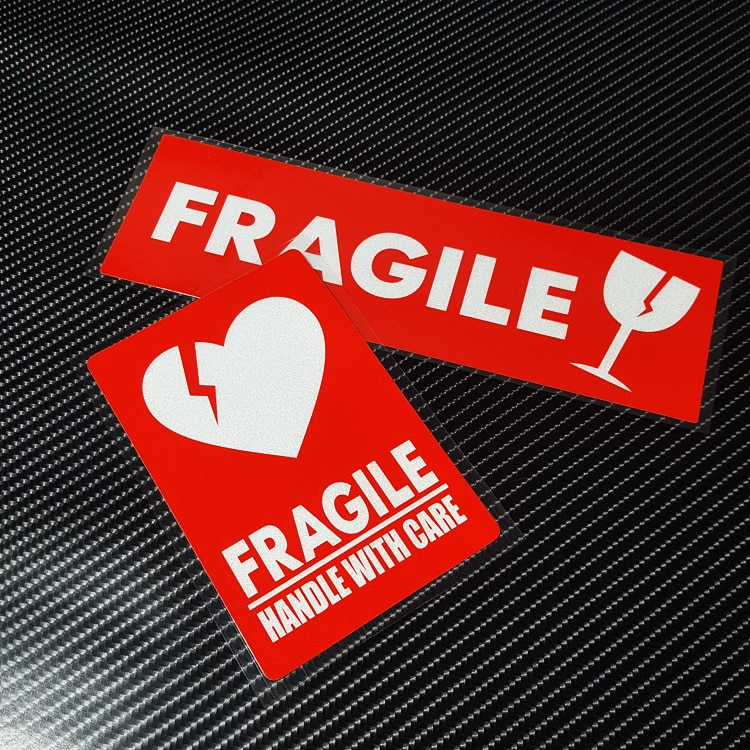 Car Styling Vinyl Fashion  FRAGILE Handle with Care Auto Window Body Tail Sticker Decals