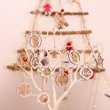 2 pièces en bois arbre de noël jouets Articles pour noël suspendus ornements de noël décor pour la maison fête de mariage nouvel an Noel Kerst