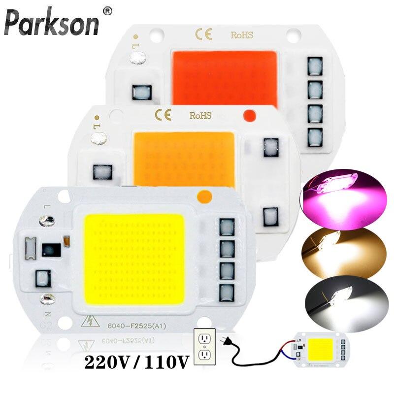 Светодиодный чип COB диод переменного тока 220 В 10 Вт 20 Вт 30 Вт 50 Вт световая коробка для выращивания растений полный спектр Смарт IC не нужен драйвер DIY светодиодные бусины лампа