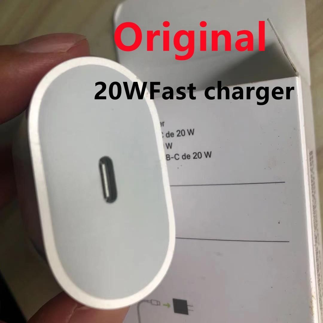 Cargador de carga rápida pd 20w, cargador para 12 13 pro max usb tipo c original, cabo adaptador de energía para u