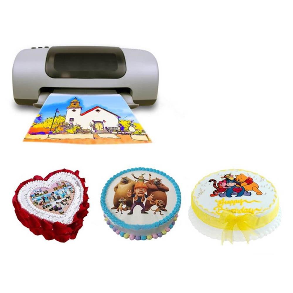 DMYON 12 T1291 T1292 T1293 T1294 Food Edible Ink Compatible for Epson WF-3010DW WF-3520DWF WF-3530DTWF WF-3540DTWF Printers enlarge