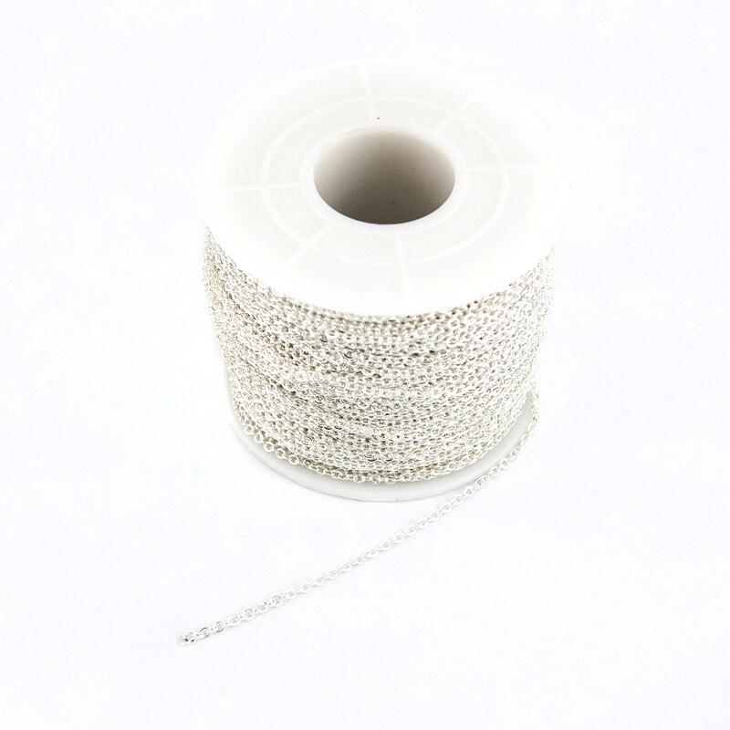 Collar gargantilla para mujer, cadena de acero inoxidable Rolo O chapado en plata de ley 925, collar de moda 2019
