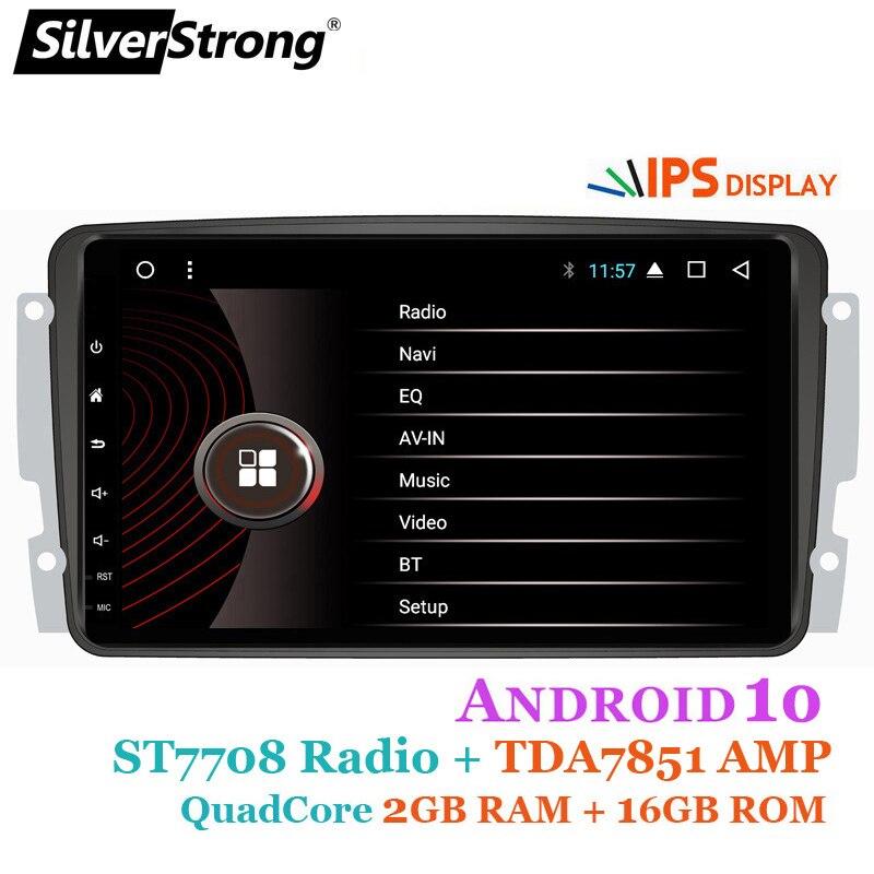 SilverStrong 8 pulgadas IPS Android10.0 GPS Radio GPS de coche para Mercedes Benz CLK W209 W203 W208 W463 Vaneo Viano Vito