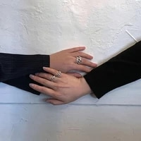 p70 rispada retro metal twist ring minimalist jewelry geometric open ring for unisex party gift