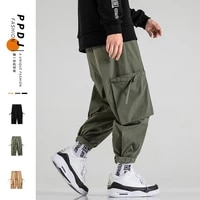 new autumn mens solid color harem pants harajuku style men ankle length trousers streetwear male casual pants oversized s 5xl