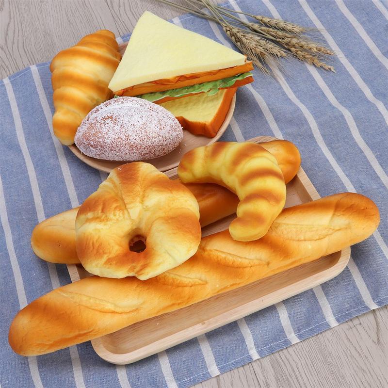 Decoración de alimentos artificiales de calidad, pan falso, decoración de comida de imitación, modelo de decoración para cocina, tienda de accesorios, suministro de restaurante A35