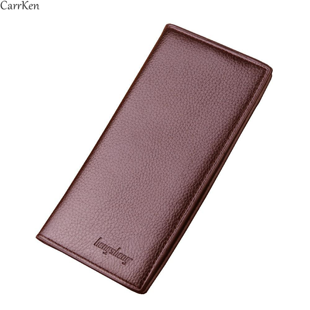 Мужской кожаный кошелек, мужской повседневный Длинный кошелек, деловой мужской чехол для карт, Длинные кошельки для монет, 2021 monederos