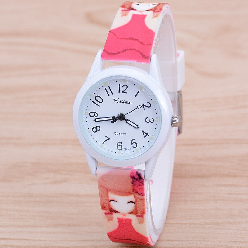 Children wholesale silica gel luminous watch cute quartz watch primary school girls watch children watch