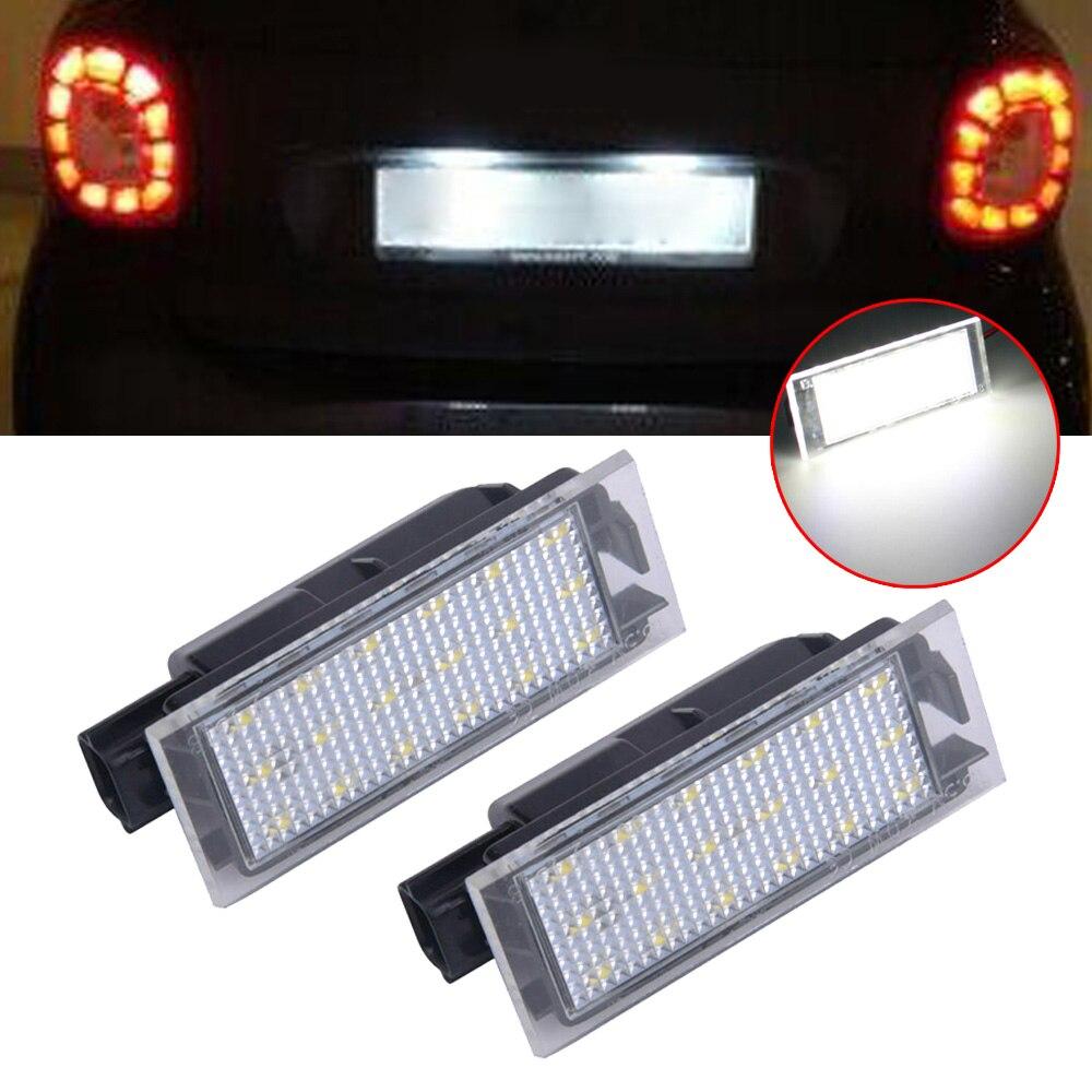 2 pièces plaque dimmatriculation lumière pour Smart Fortwo 453 coupé C453 Cabriolet A453 126LM 3528 pièce voiture Auto